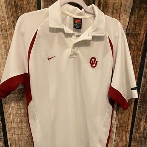 Nike OU Polo Style Small Mens Collared Shirt
